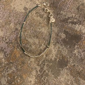 Chloe + Isabel Jewelry - Dainty Teal Leather and Bead Bracelet